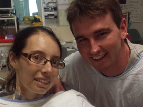 TRAGIC: Natasha and Scott Willing with their much-loved newborn son, Ryan.