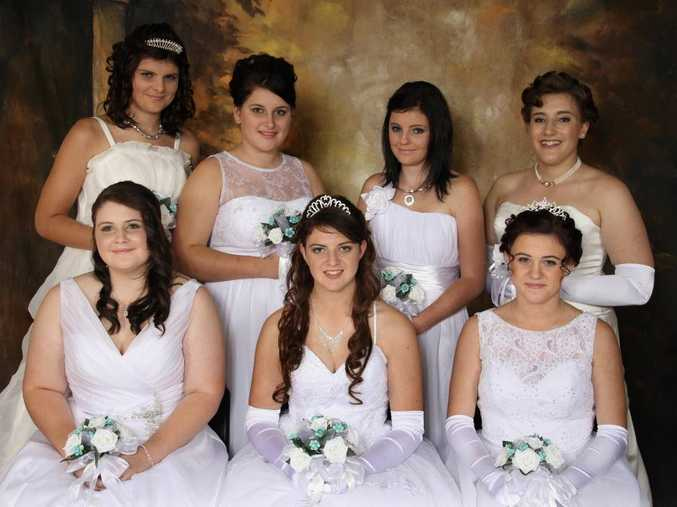 Tiffany Stokes, Emily Head, Kimberley Hibbert, Madeline Bryant. Front, from left; Amy Bezer, Emily Akers, Jamie Knilands