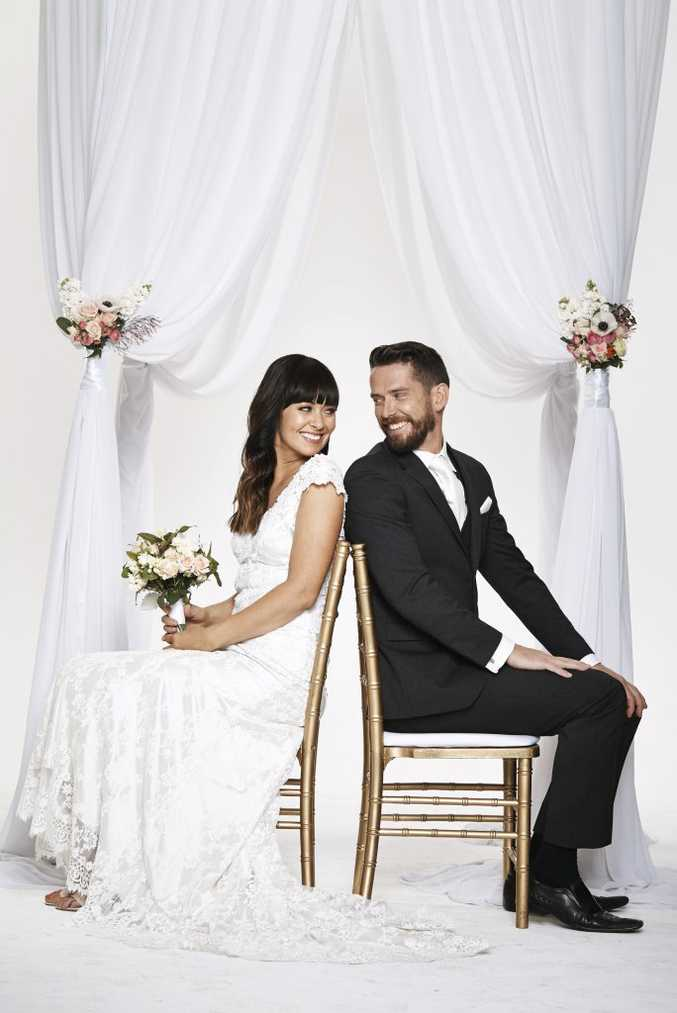Michelle and James were paired on the TV series Married at First Sight. Supplied by Channel 9.