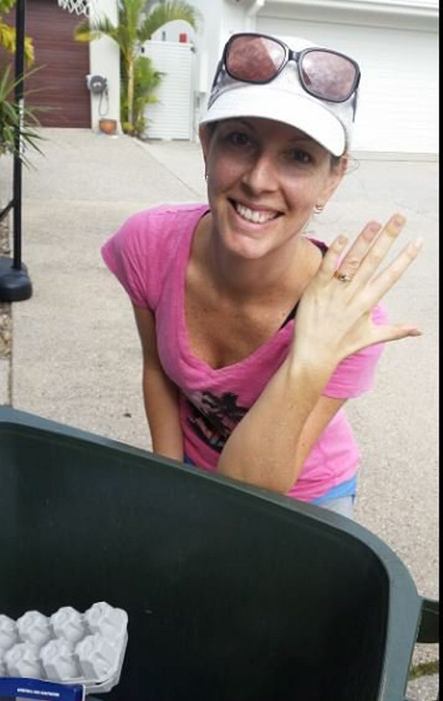 Kate Filmer was ecstatic when she found her missing wedding and engagement rings in a stroke of good luck