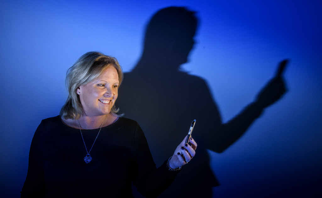 CYBER COP: Susan McLean - author of Sexts, Texts and Selfies - spoke as part of the Parenting Festival on protecting children online. Photo: Adam Hourigan