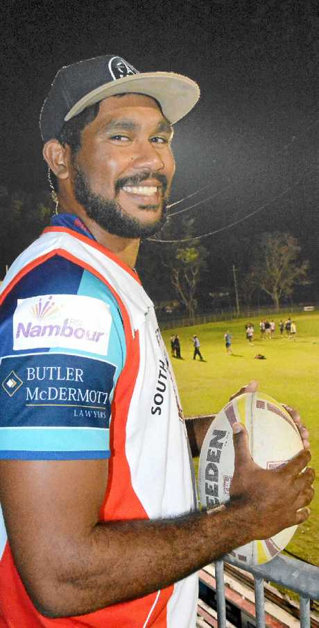 STILL SMILING: South Grafton Rebels centre Hughie Stanley has brought a positive influence to the club's training at McKittrick Park. PHOTO: BILL NORTH