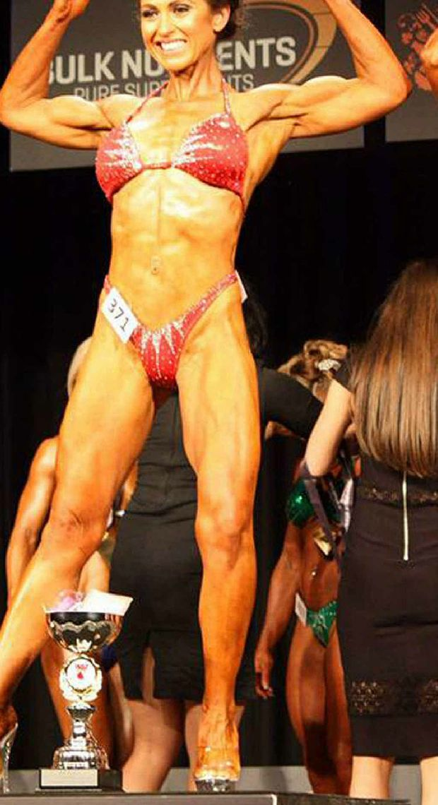 IN SHAPE: Gympie woman Kelly Renyard was a winner in her first competition.