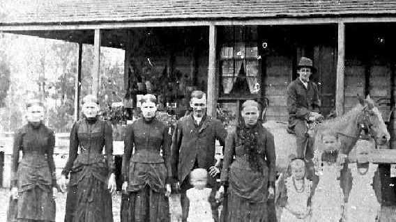 HISTORIC SNAPSHOT: Family of Elisabeth and Johan Klupfel pictured at their Marburg homestead.