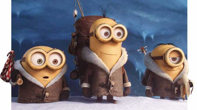 JOURNEY: Bob, Kevin and Stuart in a scene from the movie Minions.