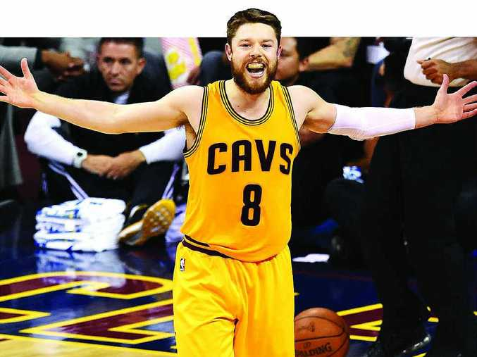 WHOLE WORLD IN HIS HANDS: Matthew Dellavedova has emerged as the surprise star in this season's NBA finals.
