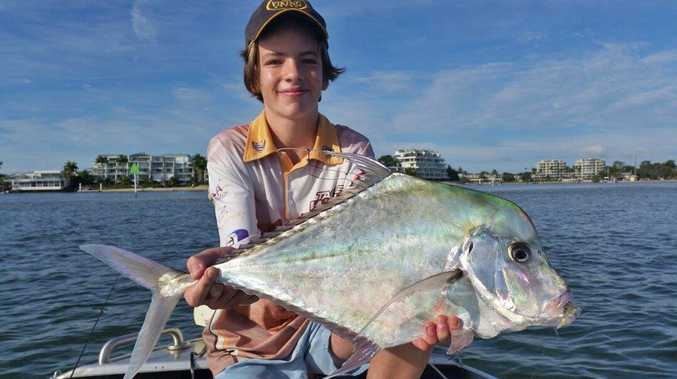 Andy Parsons with a diamond trevally