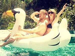 Taylor Swift posts first photograph with Calvin Harris