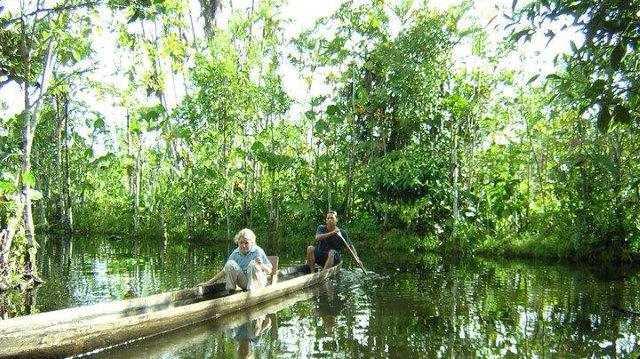 Nikki Reggett: Swimming in the Amazon with piranhas 2004.