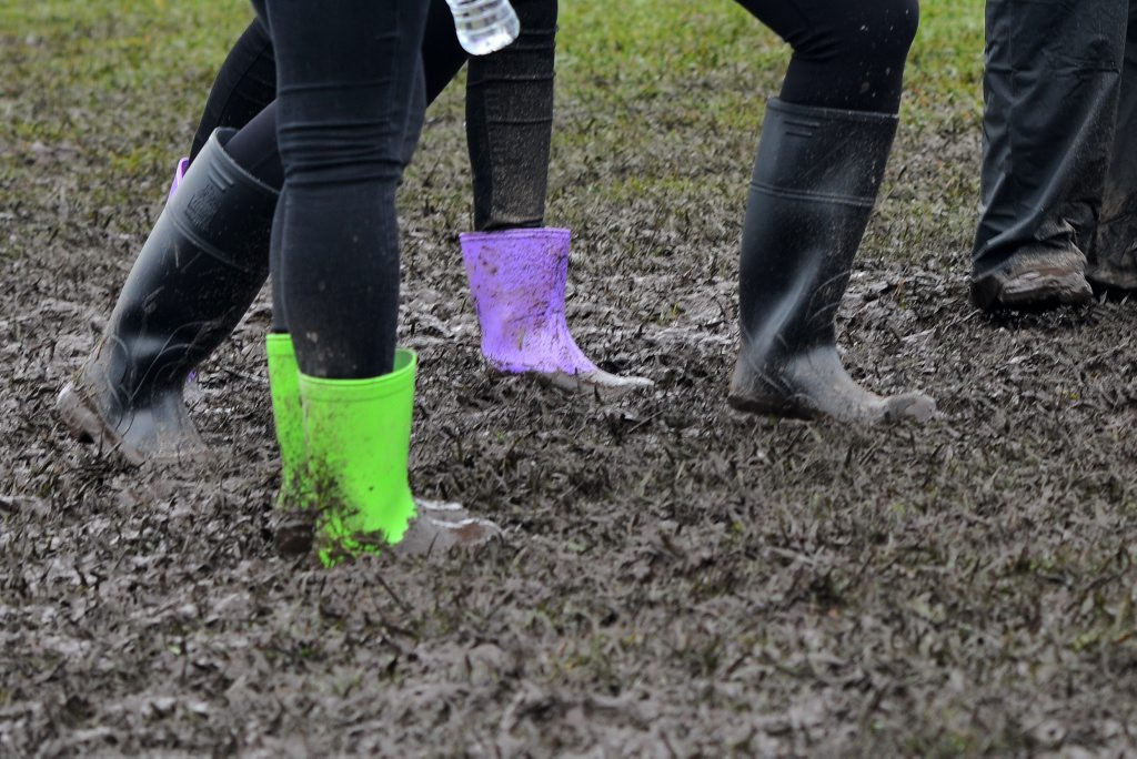 Let the kids pull on the gumboots and embrace the muddy, rainy day.