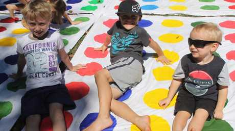 Twister is a great way to keep busy.