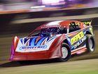 Grant Shaw is a Super Sedan heat at Rockhampton Show Speedway. Photo Allan Reinikka / The Morning Bulletin