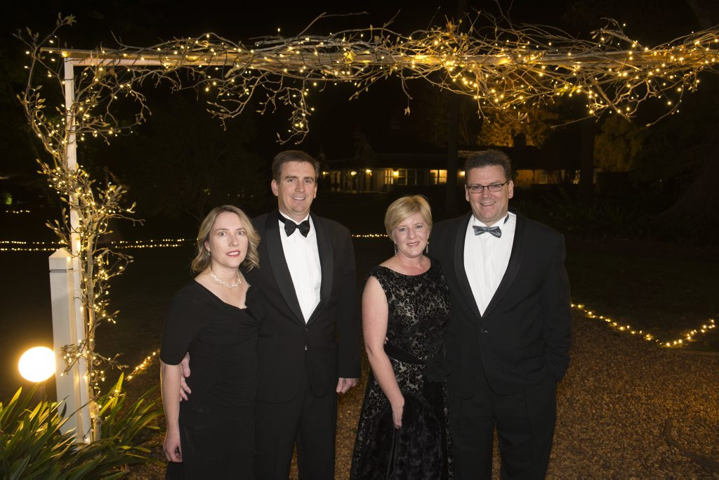 Image for sale: Kim and Stuart Doyle (left) with Fleur and Andrew Bullen.
