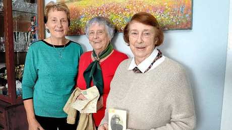 LONG LOST MAIL: Sisters, Barbara Ryan, Ednay Davidson and Miriam Arthur, were moved and happy to be reunited with a letter who went missing for 97 years. The letter was from their dad, Alfred Earnest, AKA Earnie, which he sent from the UK in 1918.