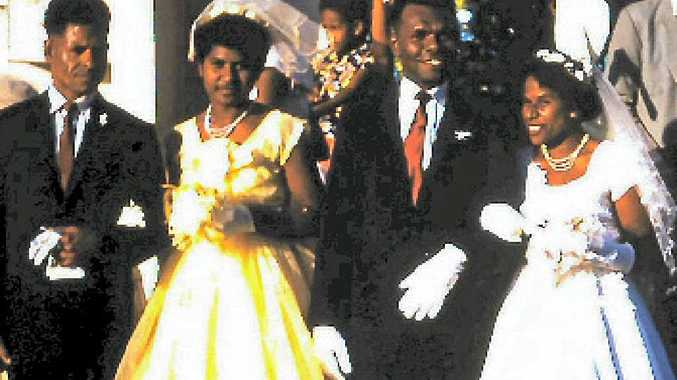 The wedding of Miriam Yasso and Stephen Geesu, about 1960.