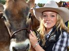 DEBUT: Jazmyn Hall, from Kenilworth, leads TJ Wynne for the first time at the Sunshine Coast Agricultural Show at Nambour Showgrounds. More show photos on pages 10 and 30.