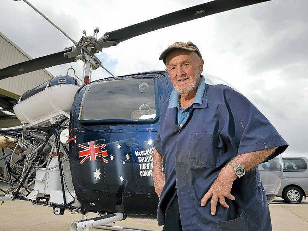 BUSINESS AS USUAL: Stan Meers, 90, runs his own business at Sunshine Coast Airport and plays golf two days a week. He is among a growing number of people over 65 who own businesses and show no signs of slowing down.