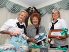 The Lioness Club of Maryborough is hosting a Big Cup of Tea which Majella Taylor, Narelle Thomsen and Dianne Hasselbach are busily preparing for.