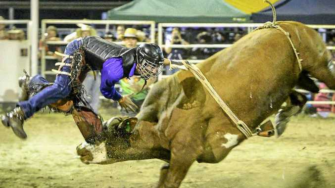BIG BUCK: Action from the 2014 Miriam Vale Rodeo. Organisers are expecting this year's event to be bigger and better with the change to the National Rodeo Association circuit.