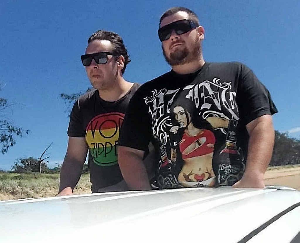 Josh Mitchell (right) won $5000 on the NRL Footy Show last night.