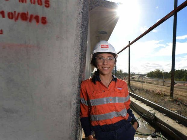 PIONEERING PATH: Yeppen South Project site engineer Emilija Trajkovska has been nominated for an award recognising women in the construction industry.