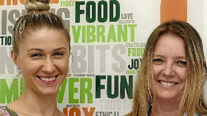 NATURE'S WAY: Nutritionist Sheridan Williamson (left), pictured with Mimi Mutze.