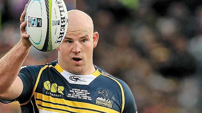 BIG JOB AHEAD: ACT Brumbies skipper Stephen Moore