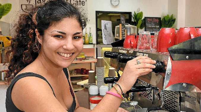 AT YOUR SERVICE: Joanna Santos makes a coffee at Java Shot Cafe, Maroochydore.