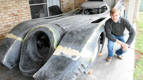FAMILY PROJECT: Cameron Blackburn has spent countless hours constructing the 1989 model Batmobile with his father Craig.