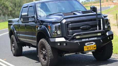 Harrison F-Trucks also sells the F350 Superduty Black Ops edition built by US specialist Tuscany.