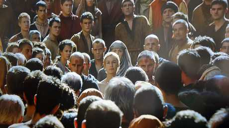 Lena Headey, centre, in a scene from Game of Thrones.