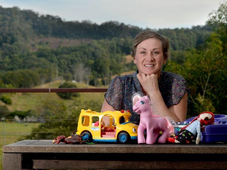 Thea Hughes enjoying the fresh air of the Tweed Valley. Photo: Blainey Woodham / Tweed Daily News