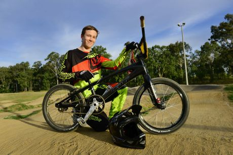 Ipswich and West Moreton BMX Club member 16-year-old Matt Krasevskis is heading to the UCI BMX World Championships in Belgium. Photo: David Nielsen / The Queensland Times