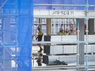 VIDEO: Workers raise roof on Toowoomba's new library
