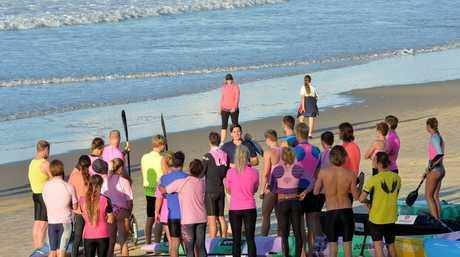 Training at Mooloolaba Beach. Photo: Warren Lynam / Sunshine Coast Daily