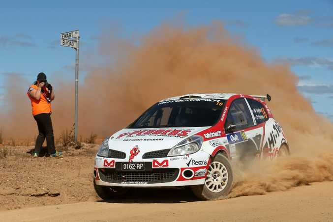 ALL ACTION: Molly Taylor was the first female winner of an Australian Rally Championship round at Canberra this May.