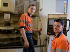 Mitchell Purcell (right) will be overseeing the training program for Purcell's Engineering with trainees such as second-year apprentice Josh Noonan.