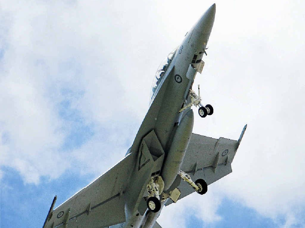IMPRESSIVE: Visitors to the RAAF Amberley Aviation Heritage Centre will be able to get up close and personal with an F/A-18F Super Hornet.