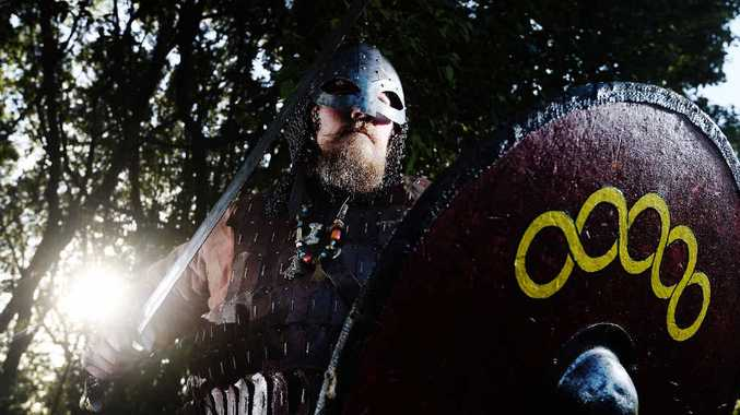 HERE THEY COME! Viking village event co-ordinator Greg O'Meara, of the Viking re-enactment group Rognvald's Lith, is looking forward to setting up the Winter Solstice village for the Lismore Lantern Parade.
