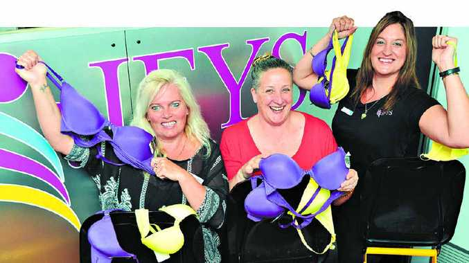 UNDIES WANTED: Integrated Family and Youth Services staff members (from left) Tracylee Hudson, Debora Neaves and Emma Burke are calling on people to donate new underwear to help homeless people on the Coast.