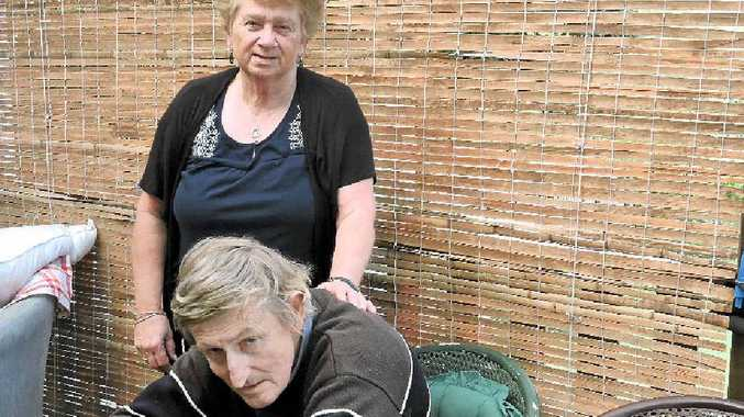 DOING IT TOUGH: Kathy and Bill Kellegher, who have had a horror run, have been offered a helping hand from generous locals.