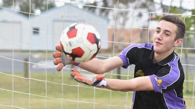 Sam Whatman - footballer going to Germany. Photo: Alistair Brightman / Fraser Coast Chronicle