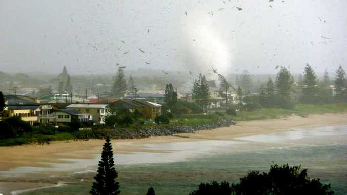 RARE SIGHTS: Tornados are fairly uncommon in Australia, according to the BoM. John Green captured this image of one wreaking havoc on Lennox Head in 2010.