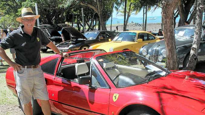 CLASSIC: John Royce showed off his 1988 Ferrari 328 GTS at the 2013 Classic Car Show in Airlie Beach.