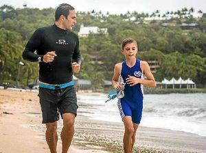 Boy trains with an Ironman superstar