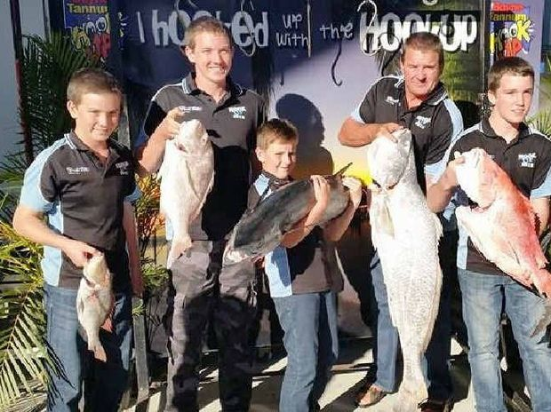 FINE FISH: The Katnap fishing team cleaned up on the coast at the Boyne Tannum Hook Up over the weekend.