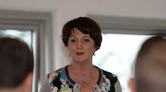DROPPING IN: Jann Stuckey talks to people at Yeppoon on the GKI development.