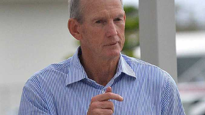 LEGEND: Wayne Bennett arrives at the Sunshine Coast Falcons State of Origin Luncheon at The Lakehouse, Brightwater Hotel, to a strong crowd thick with Maroons fans eager to catch a glimpse of the master Broncos mentor.