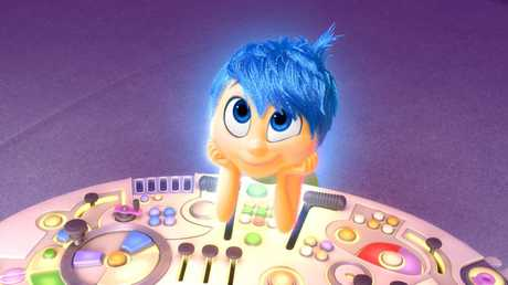 The character Joy, voiced by Amy Poehler, in a scene from Inside Out.