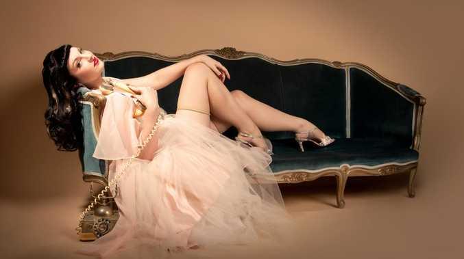 Brisbane's burlesque star Lila Luxx.